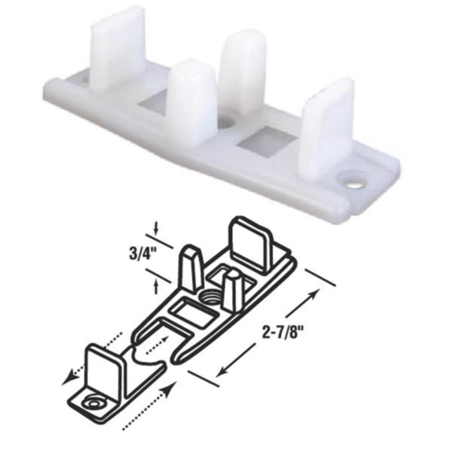 Prime-Line 3/4 In. Adjustable Nylon Base Bypass Door Bottom Guide (2 Count) Image 1