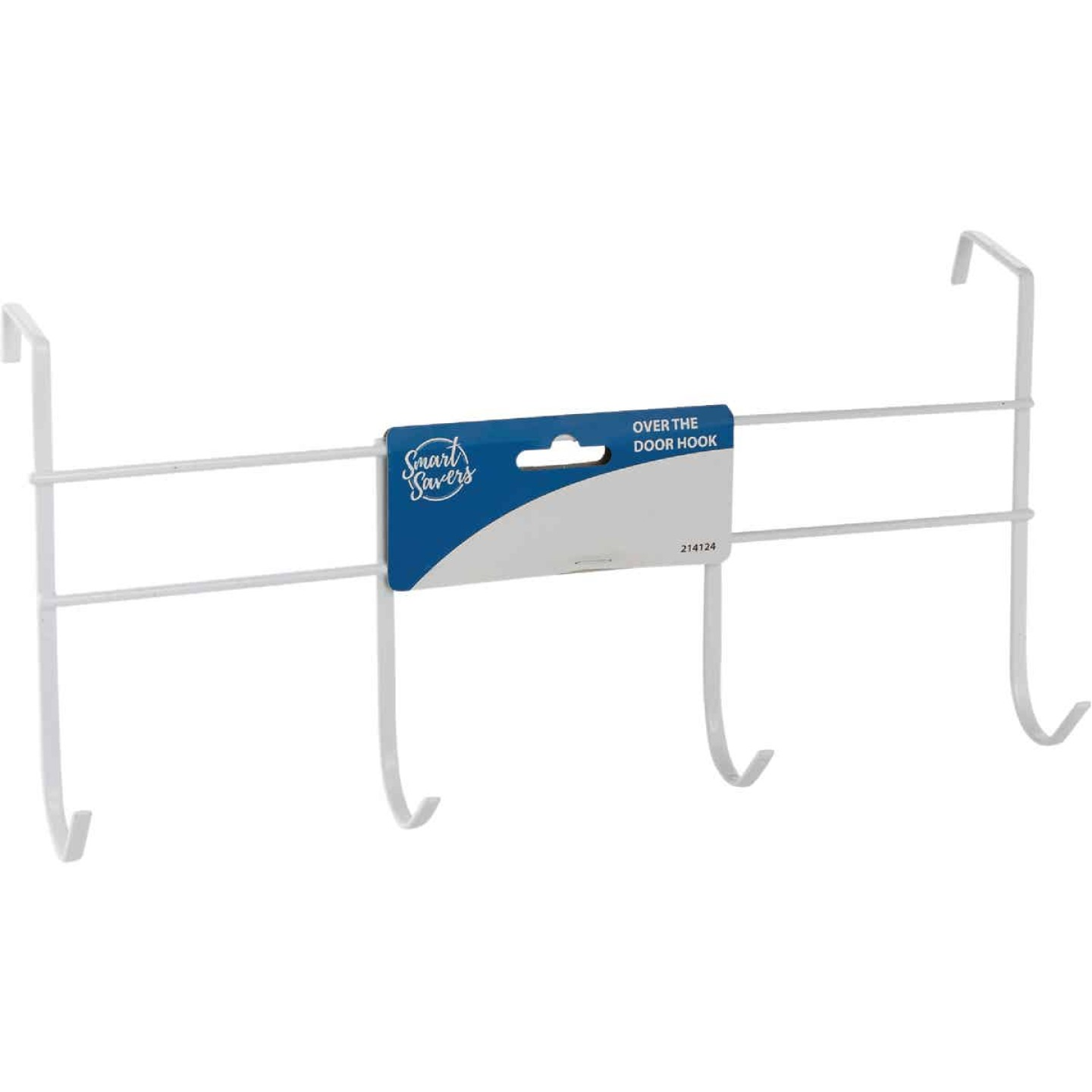 Smart Savers White Iron Over The Door Hook Image 1