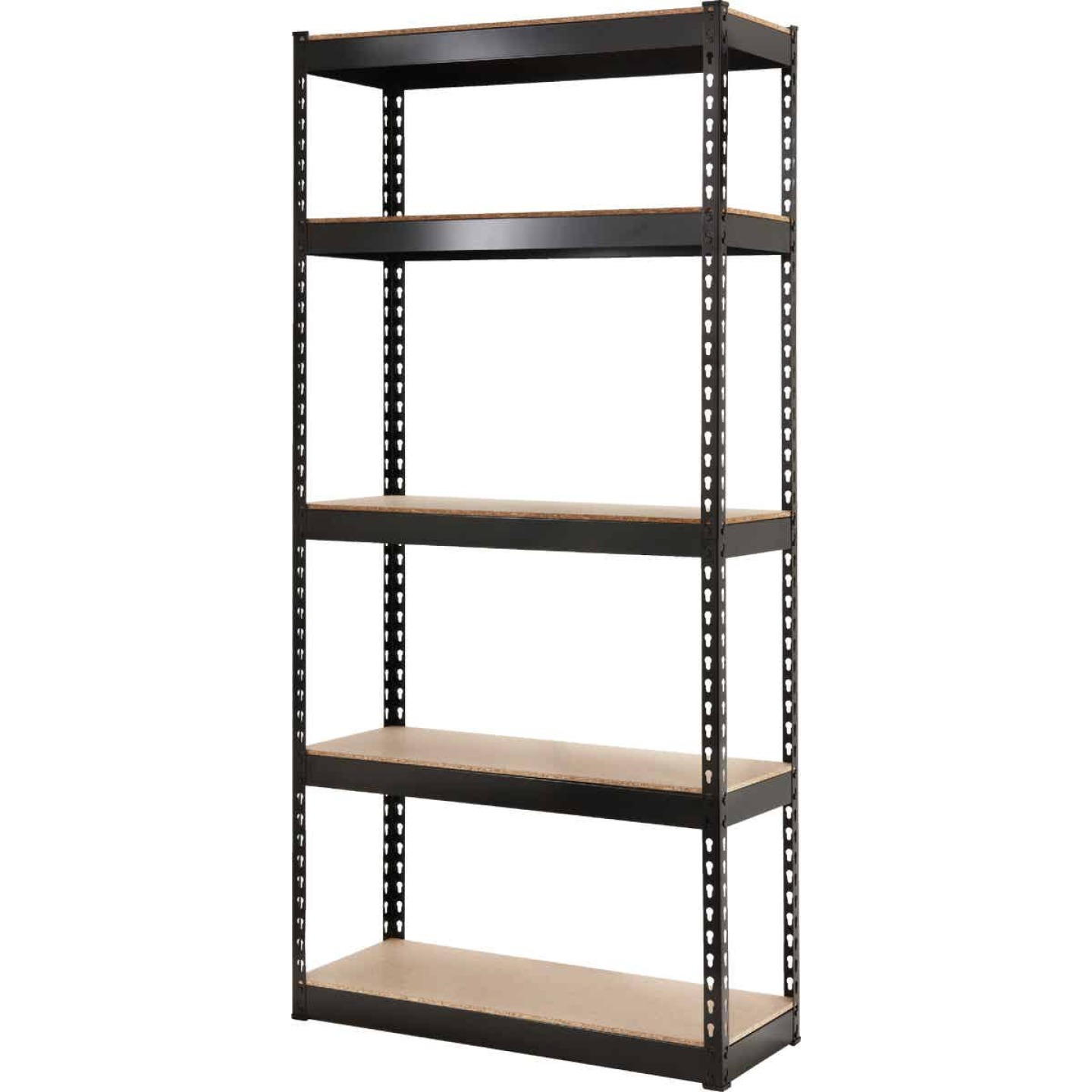 L-Beam 34 In. x 72 In. x 14 In. Black Steel 5-Tier Shelving Image 1