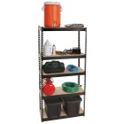 L-Beam 34 In. x 72 In. x 14 In. Black Steel 5-Tier Shelving Image 2