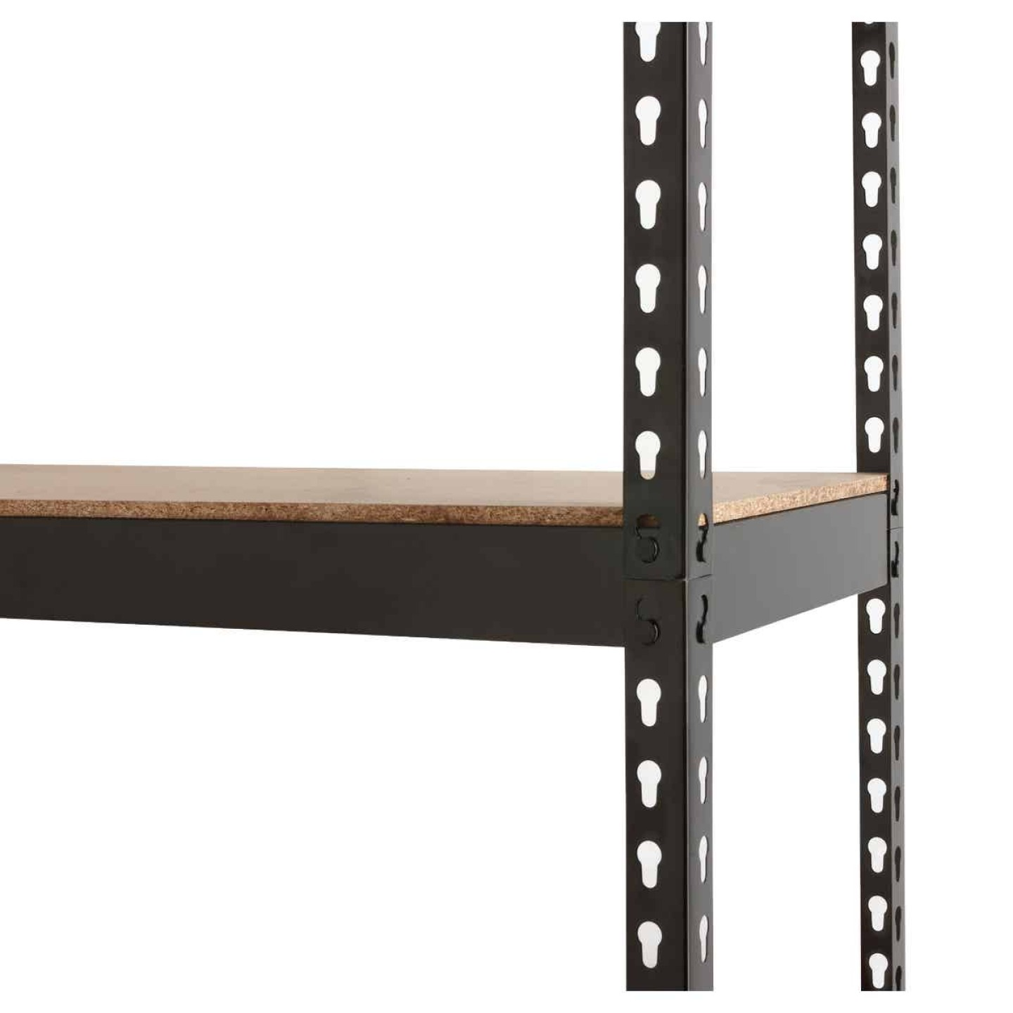 L-Beam 34 In. x 72 In. x 14 In. Black Steel 5-Tier Shelving Image 4