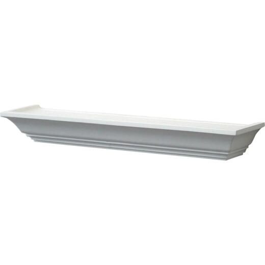 John Sterling Corp 24 In. White Mantel Decorative Shelf