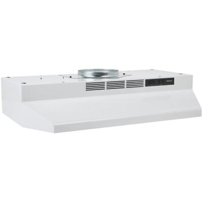 Broan-Nutone F Series 30 In. Convertible White Range Hood