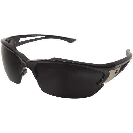 Edge Eyewear Khor G2 Gloss Black Frame Safety Glasses with Smoke Lenses