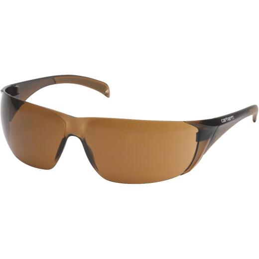 Carhartt Billings Bronze Temple Safety Glasses with Bronze Lenses