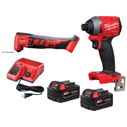 Milwaukee 2-Tool M18 FUEL Lithium-Ion Brushless Impact Driver & Multi-Tool Cordless Tool Combo Kit