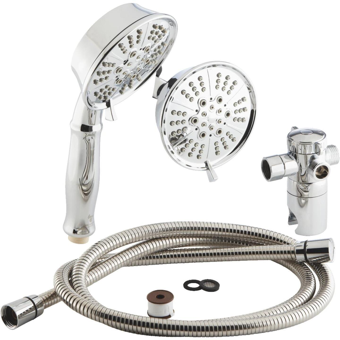Home Impressions 5-Spray 1.75 GPM Combo Hand-Held Shower & Showerhead, Chrome Image 2
