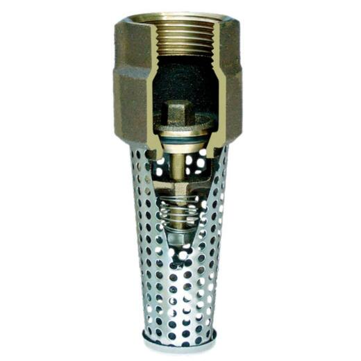 Simmons 3/4 In. Silicon Bronze Foot Valve, Lead Free