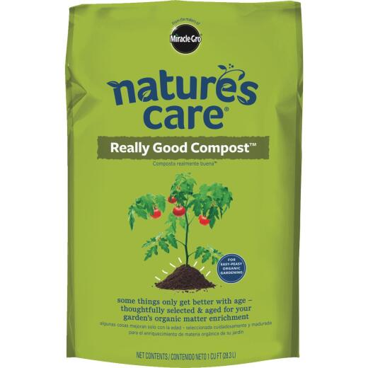 Miracle-Gro Nature's Care 1 Cu. Ft. Organic Lawn & Garden Compost