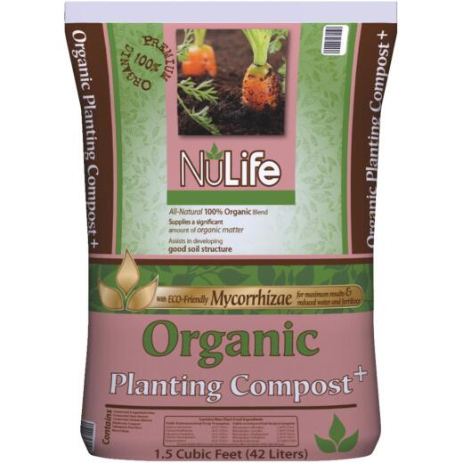 NuLife 1.5 Cu. Ft. Organic Planting Compost Plus