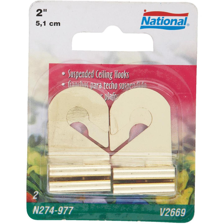 National Brass Suspended Ceiling Hook (2 Pack) Image 1