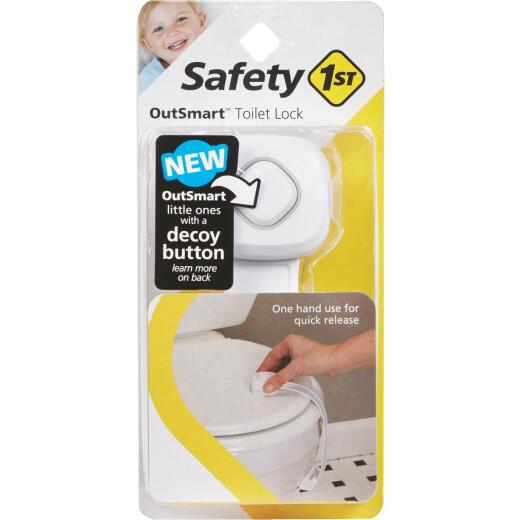 Safety 1st OutSmart White Plastic Toilet Lock
