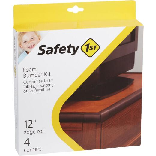 Safety 1st Adhesive Foam Brown Edge Roll and Corners Bumper Kit