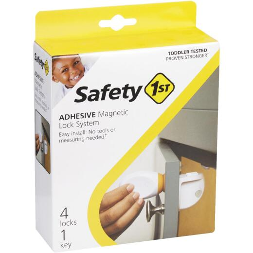 Safety 1st Plastic Adhesive Magnetic Lock System (4-Lock Set)